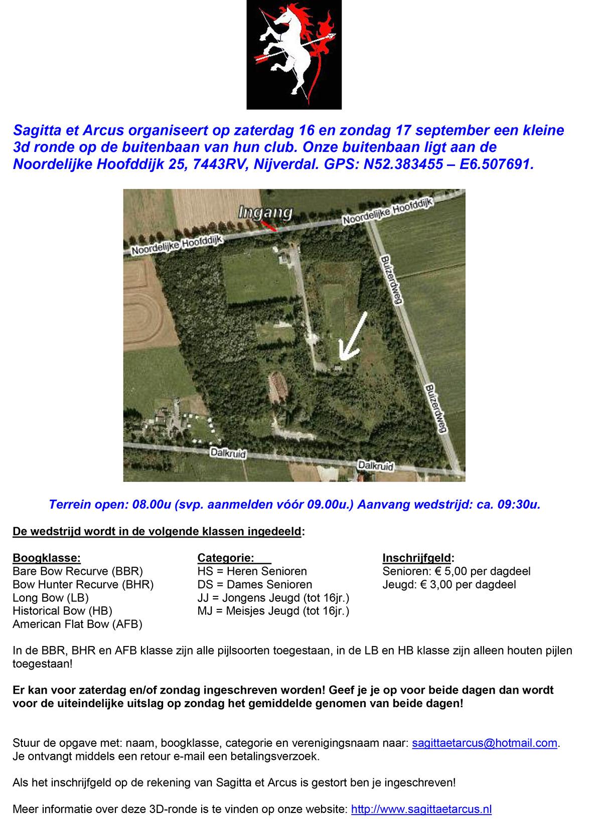 Kleine 3D Ronde S&A @ Buitenbaan Club Sagitta et Arcus | Nijverdal | Overijssel | Nederland