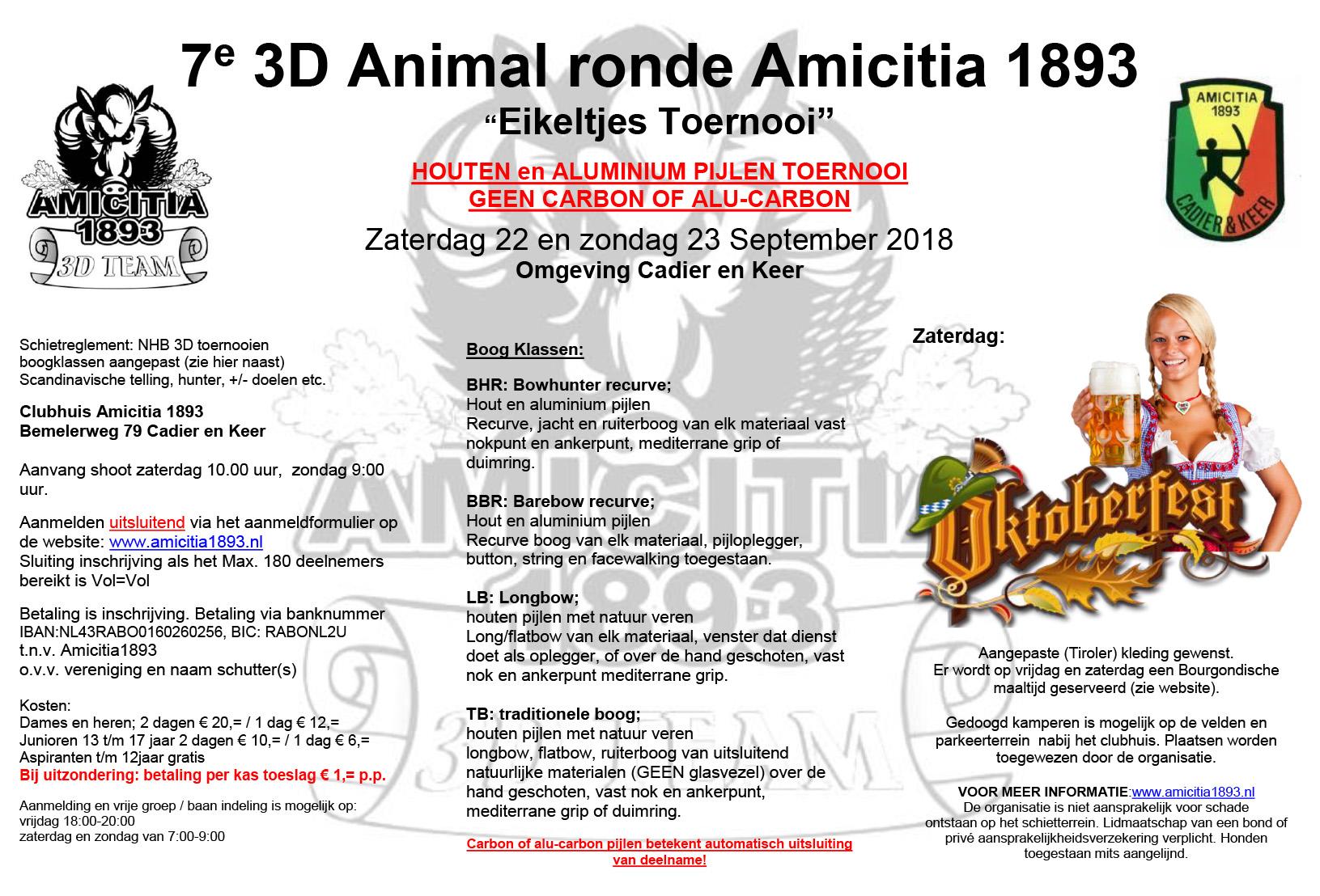 7e 3D Animal ronde Amicitia 1893 @ Clubhuis Amicitia 1893 | Cadier en Keer | Limburg | Nederland