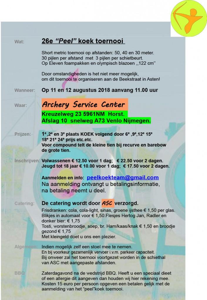 Peelkoektoernooi @ Archery Service Center | Horst | Limburg | Nederland