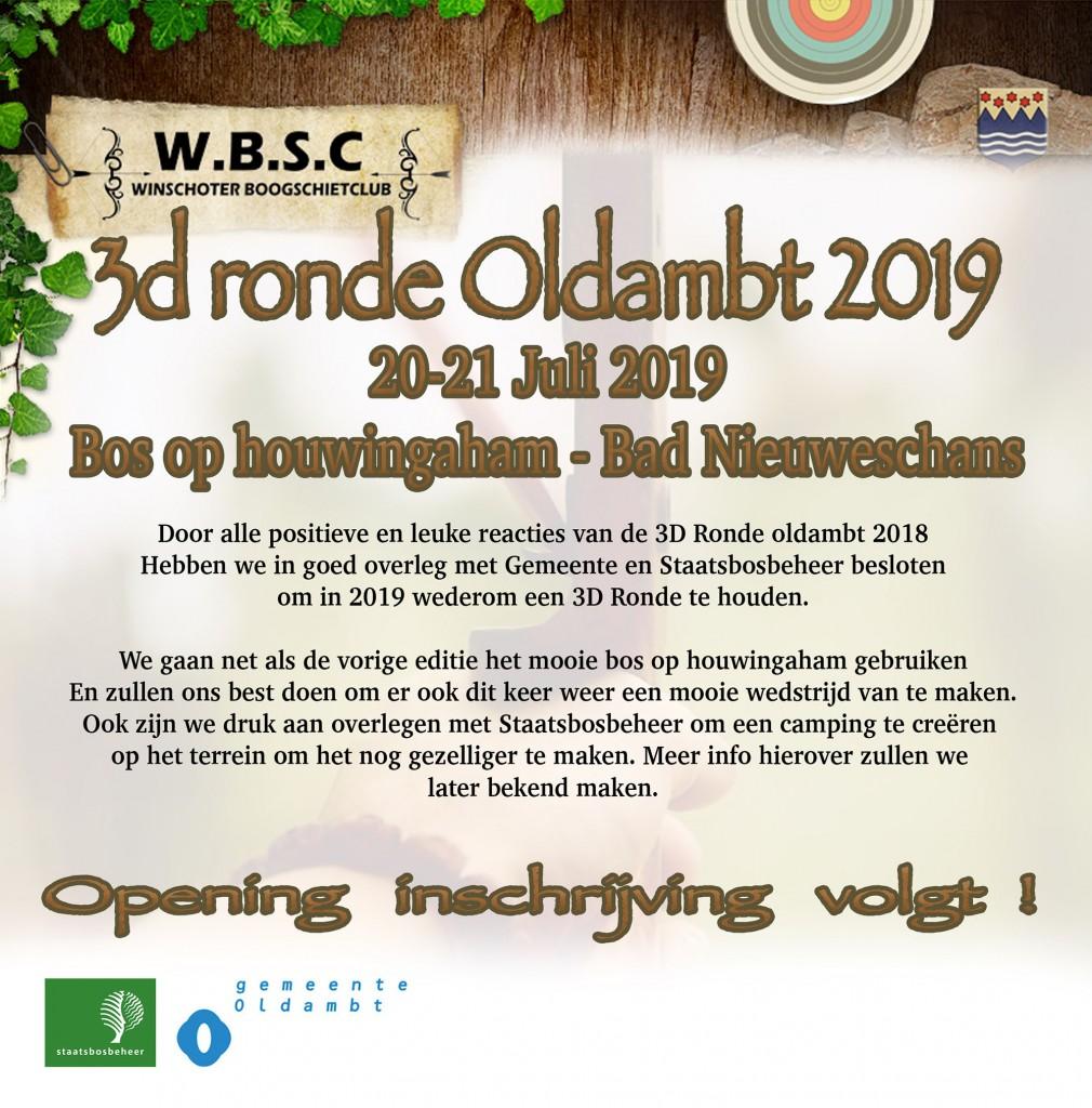 aankondiging 3d ronde 2019