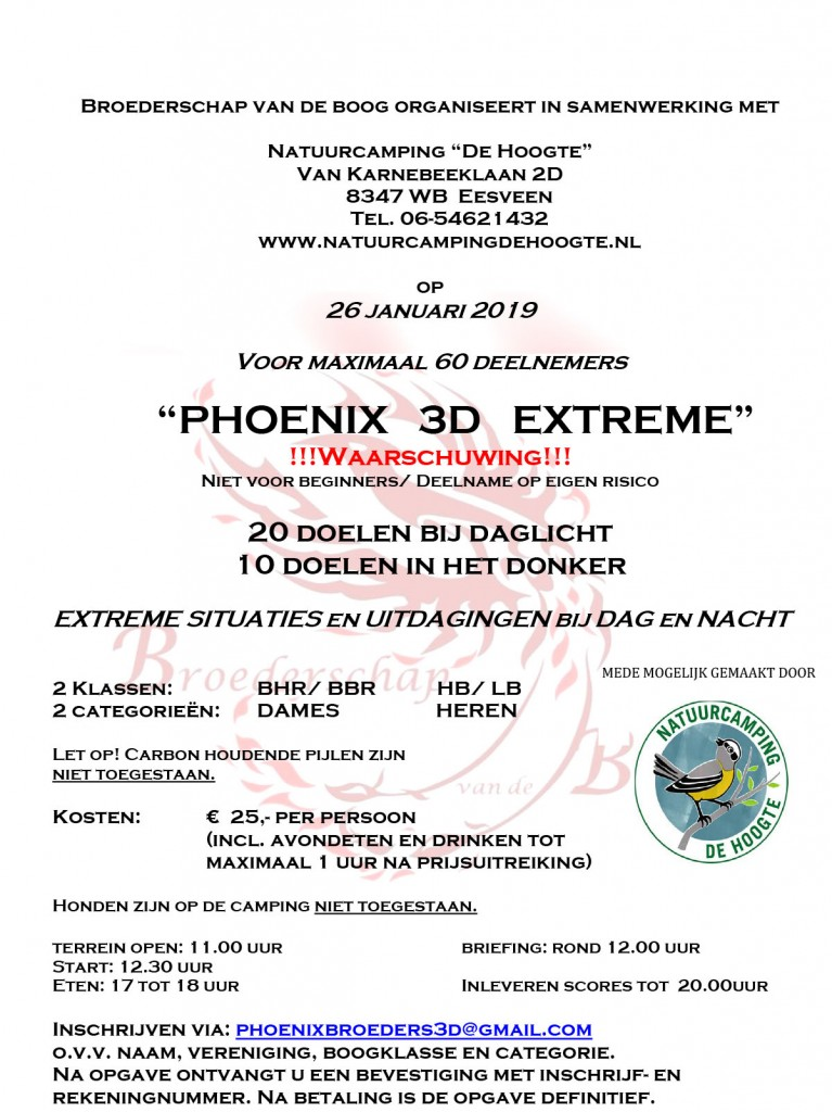 PHOENIX 3D EXTREME @ Natuurcamping 'de Hoogte'