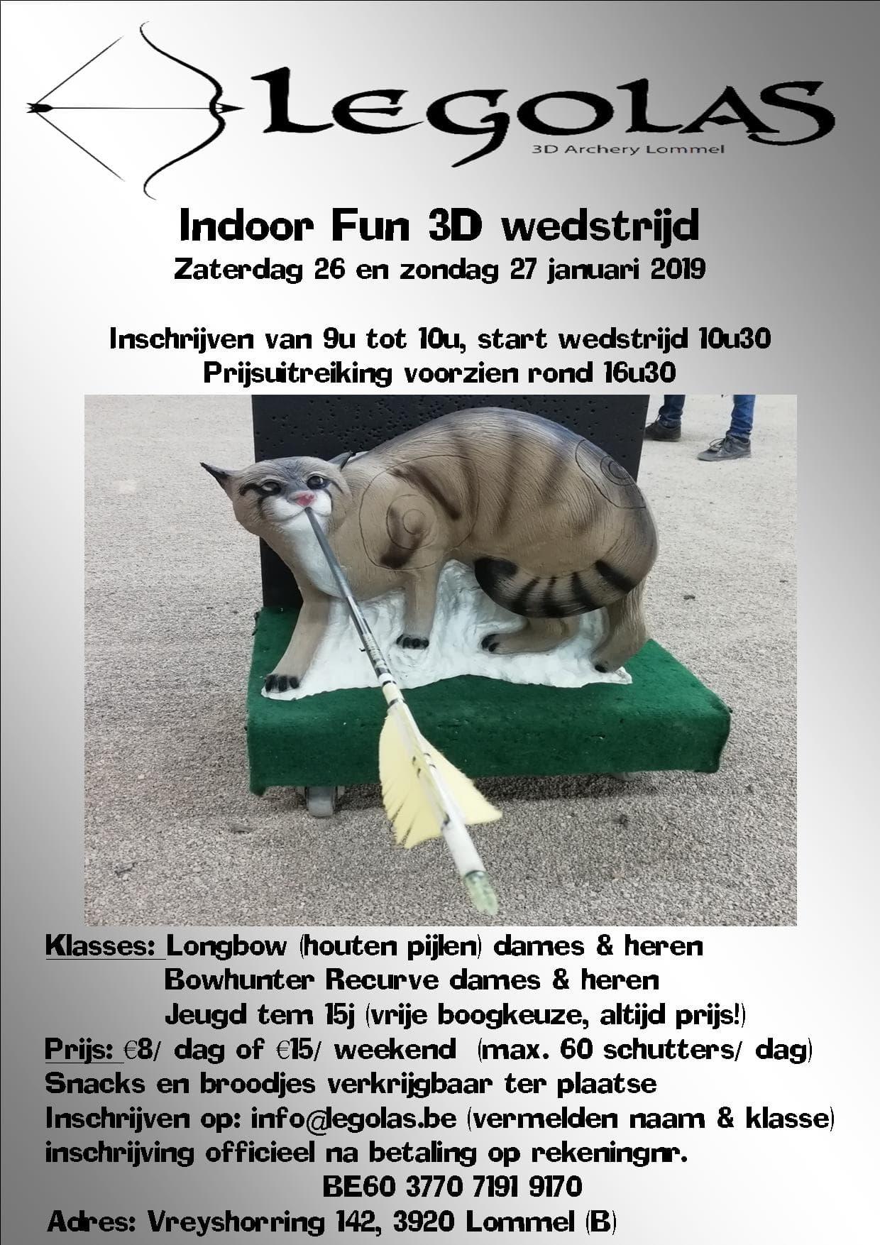 1e indoor 3D Legolas 3D archery @ Legolas