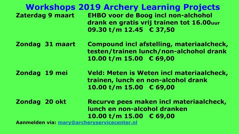 Datums workshops aangepast 06 01 2018