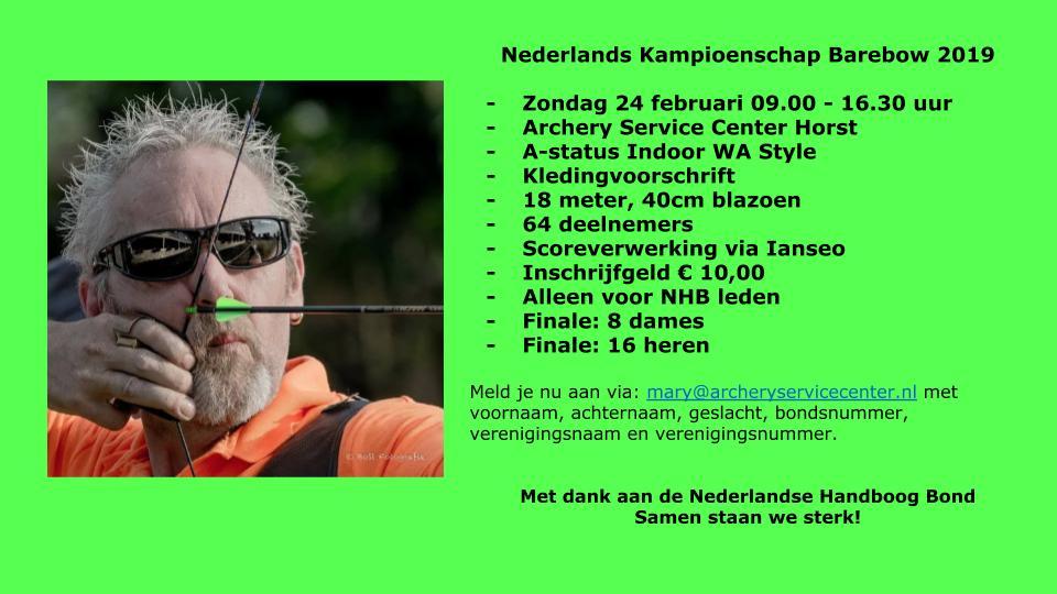 Nederlands Kampioenschap Barebow @ ASC