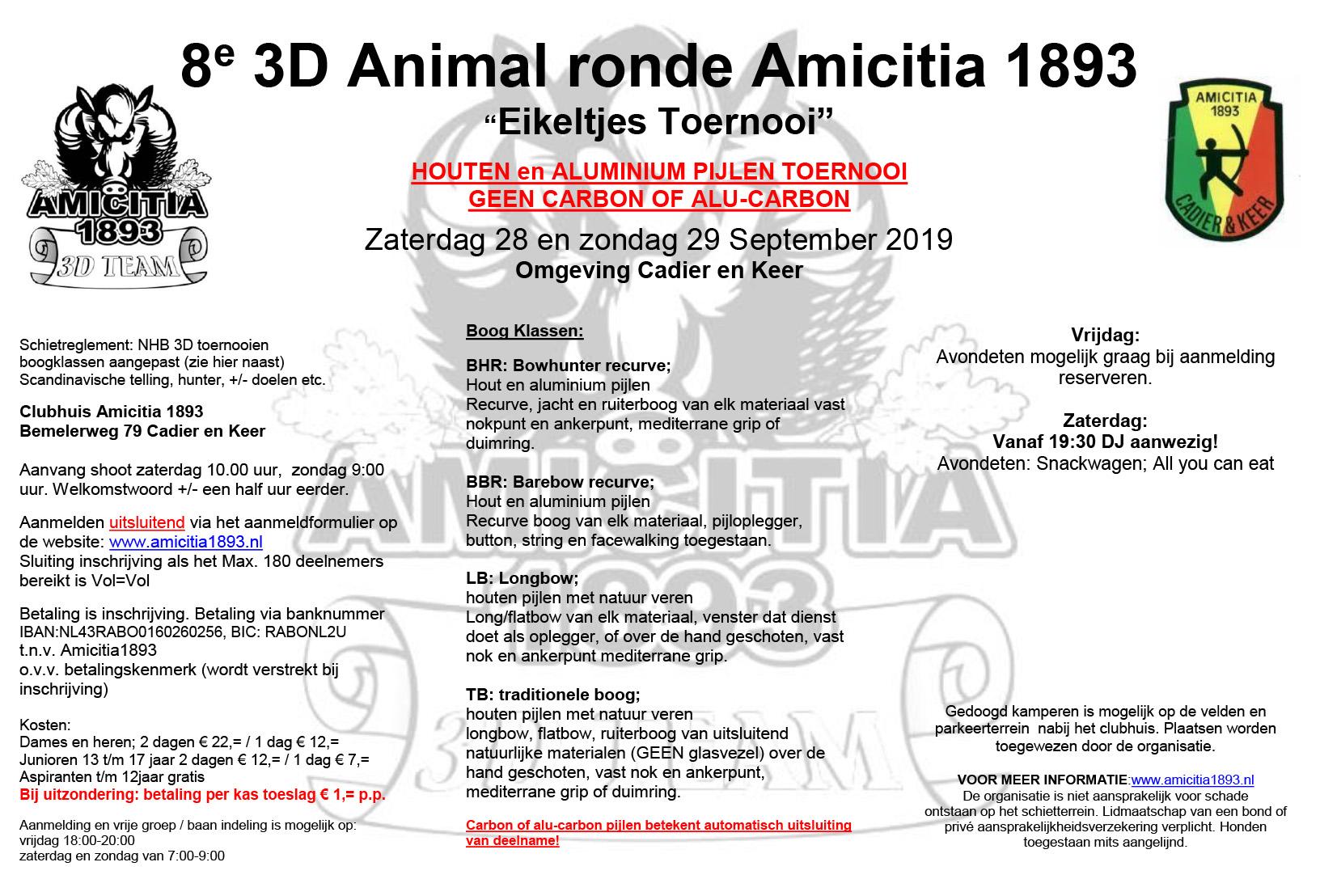 3D Amicitia 1893 @ Clubhuis Amicitia 1893