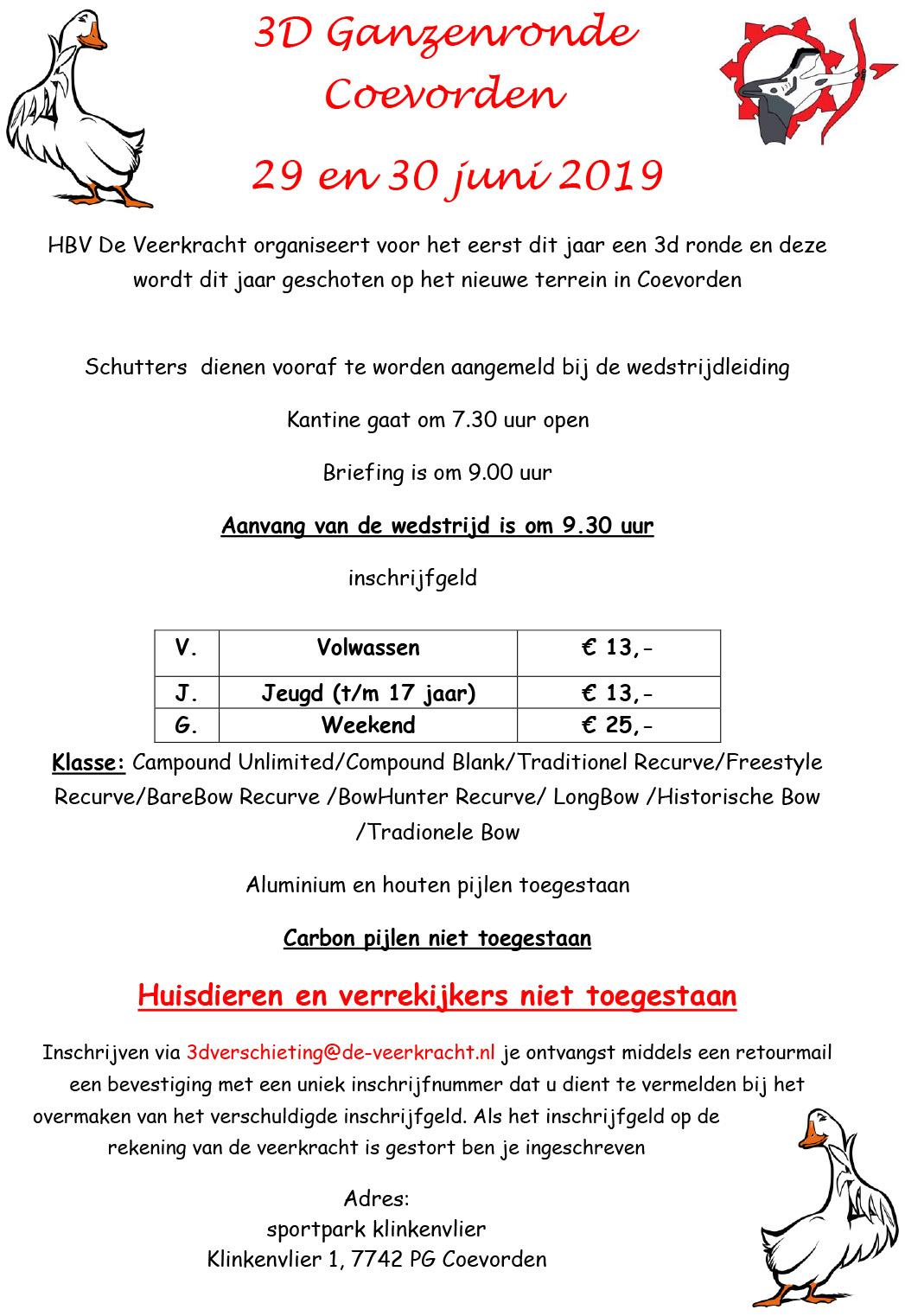 Uitnodiging 3D Ganzenronde Coevorden 2019