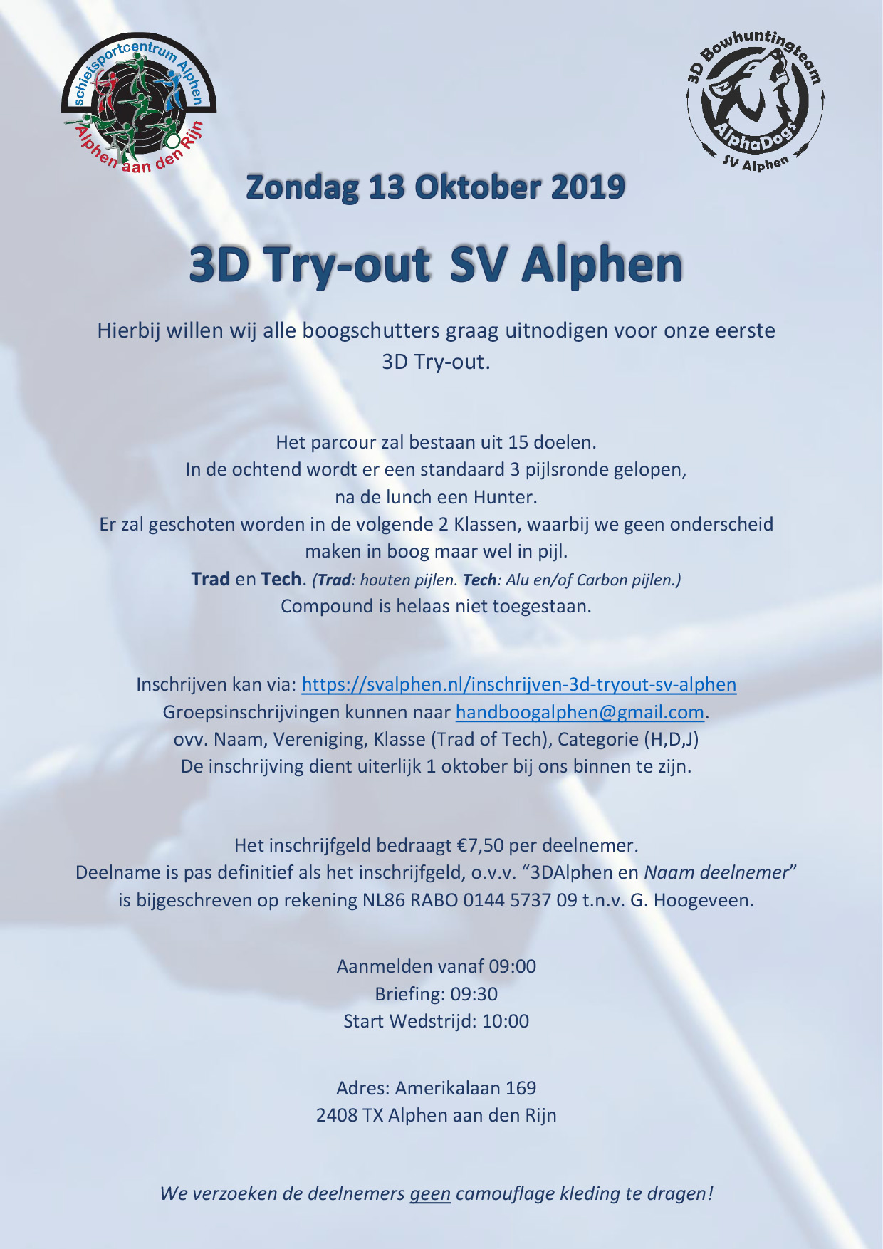 3D Try-out SV Alphen