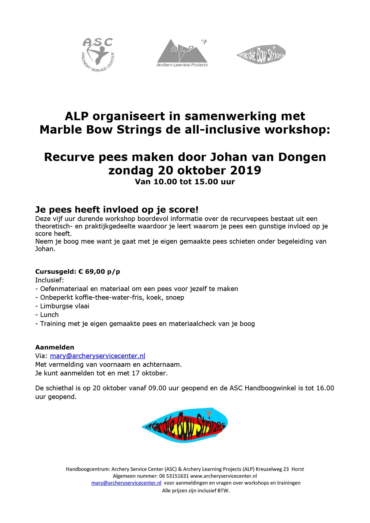 Handboog Workshop Recurve pees maken 20 okt 2019 (002)