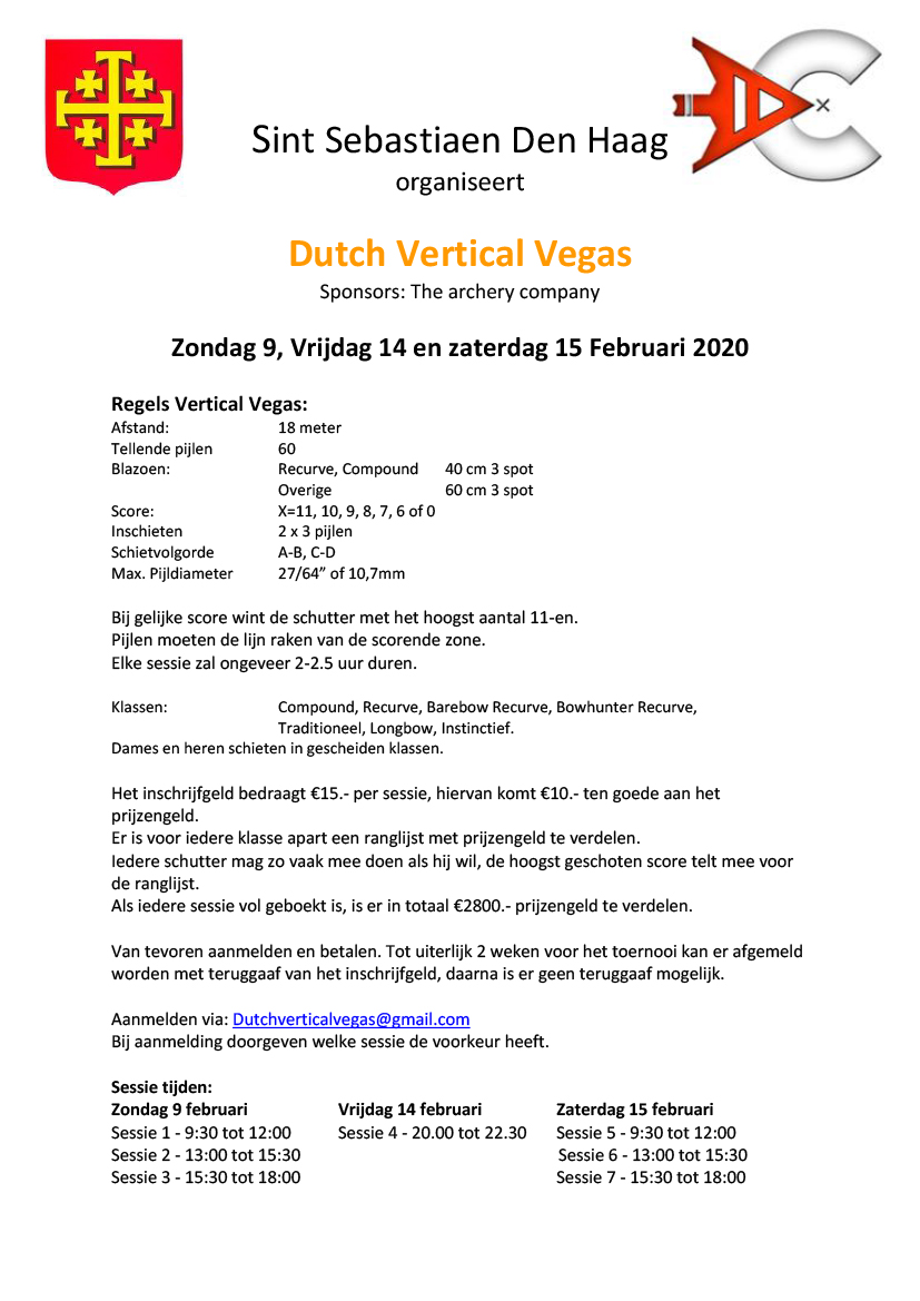 Dutch Vertical Vegas Tournooi 2020