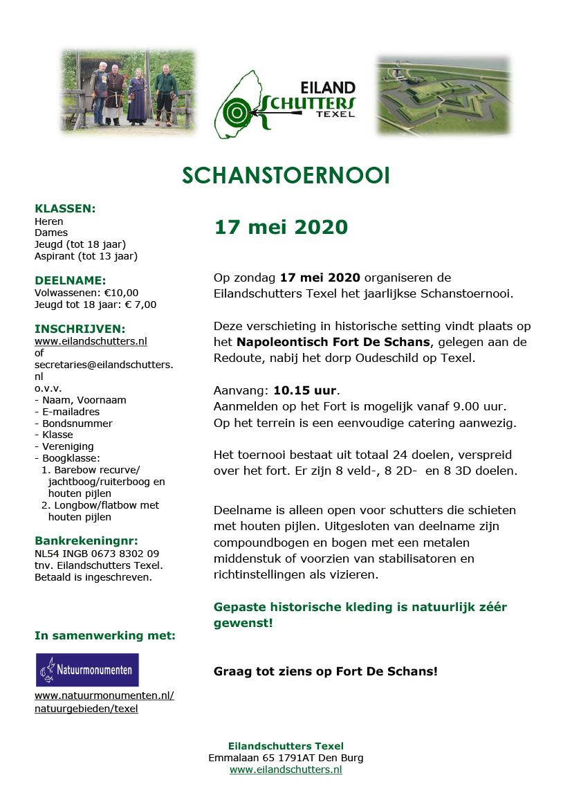 Schanstoernooi 2020 uitnodiging