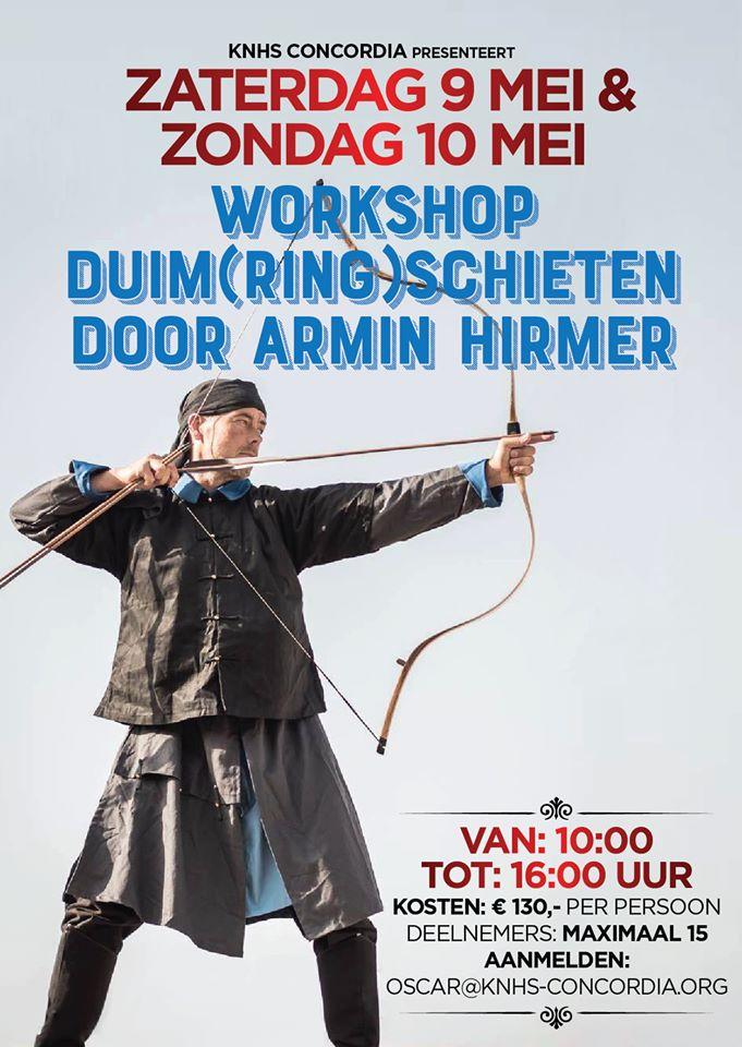 Workshop duim(ring)schieten bij K.N.H.S Concordia Amsterdam @ K.N.H.S Concordia