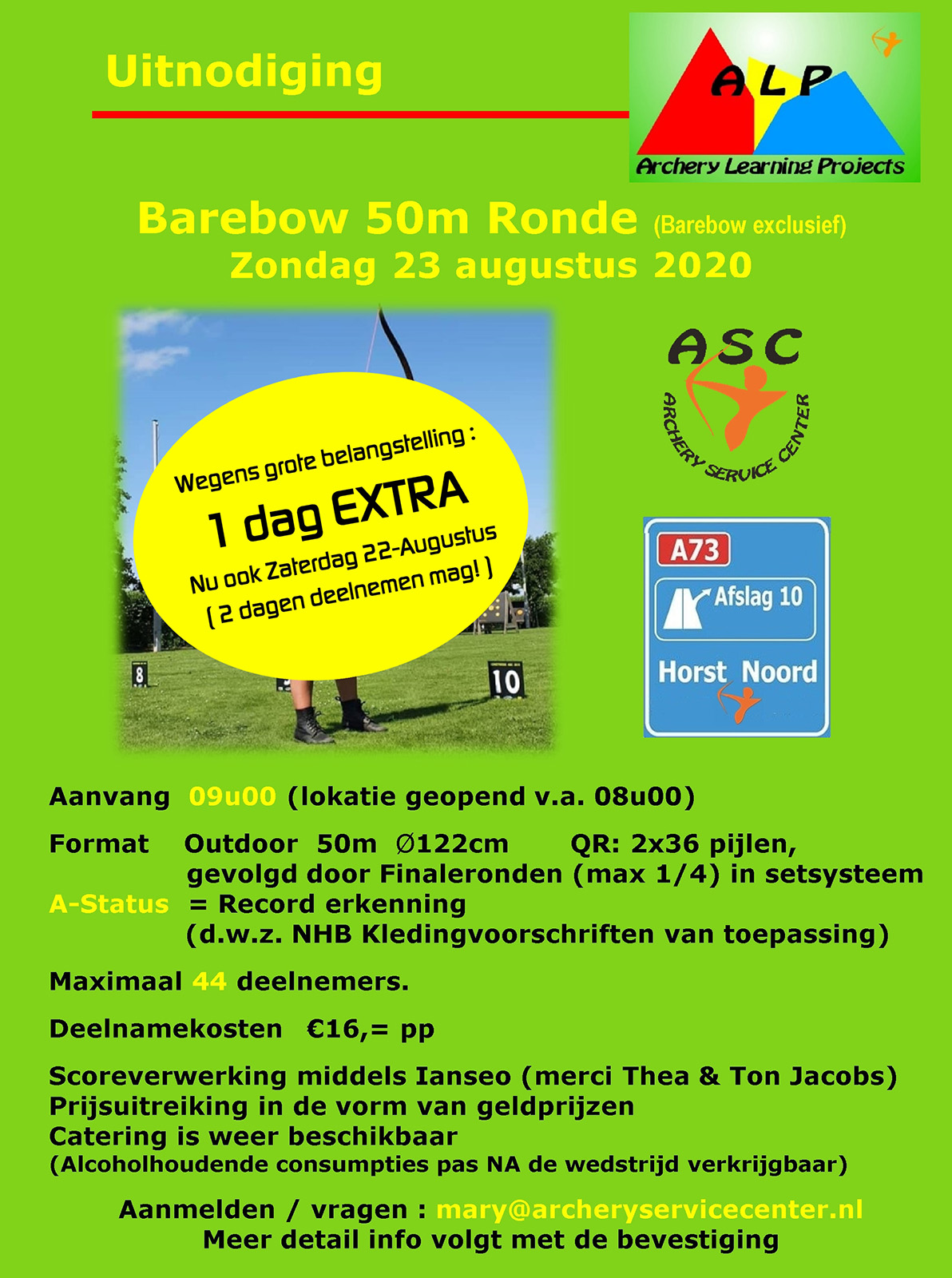 Barebow 50m Outdoor Ronde @ ASC
