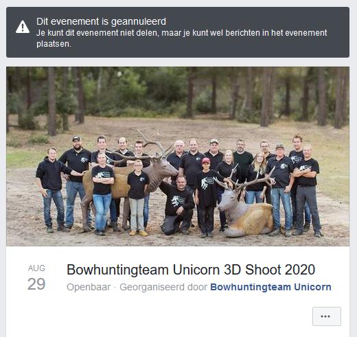 Unicorn geannuleerd