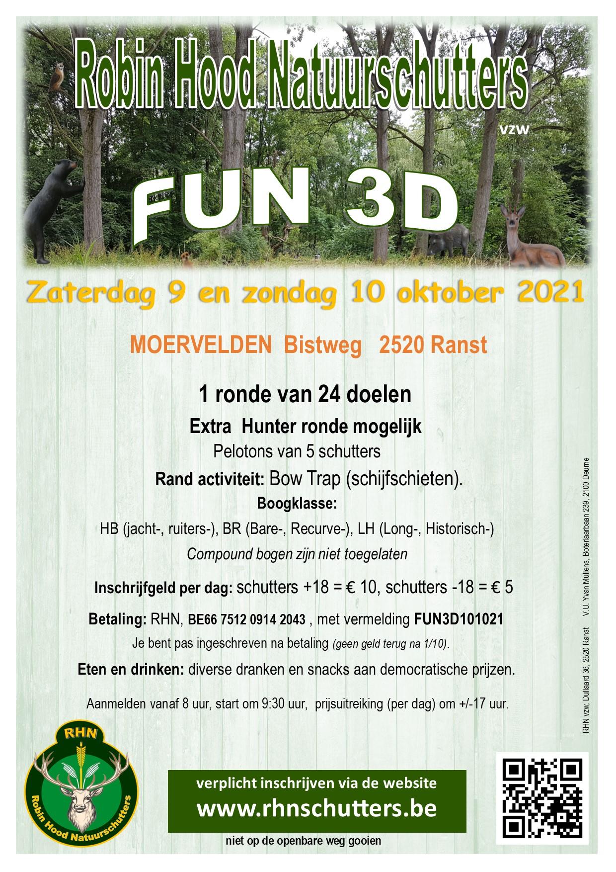 Fun 3D Robin Hood Natuurschutters @ Moervelden